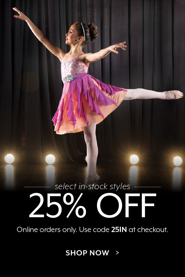 Get 25% OFF select in-stock styles!