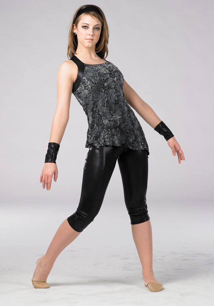 FOIL LYCRA CAPRI LEGGINGS
