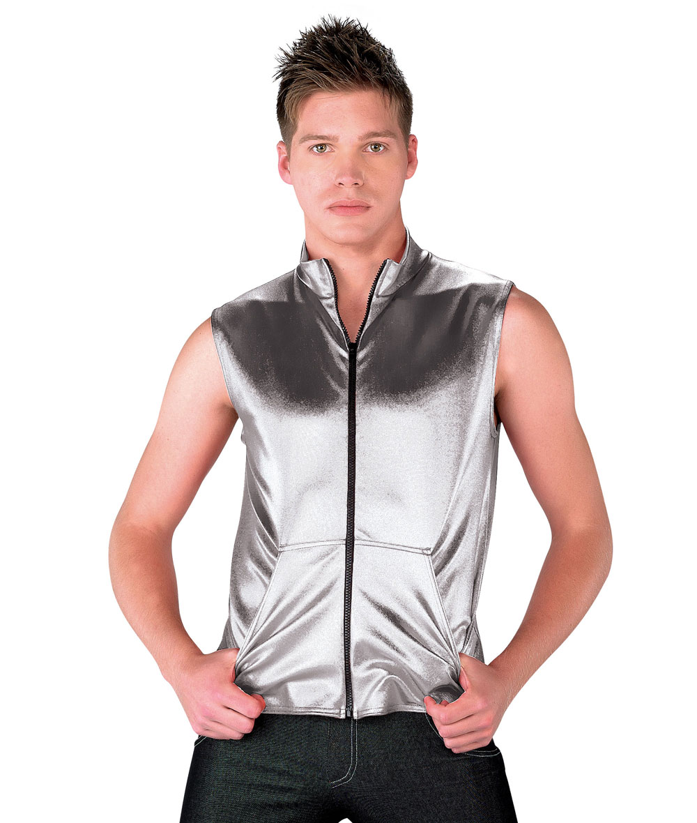GUYS METALLIC DENIM VEST