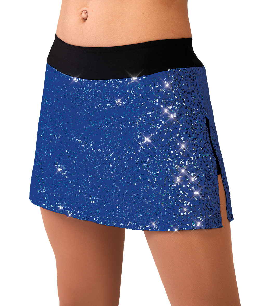 SEQUIN/SPANDEX SLIM SKIRT