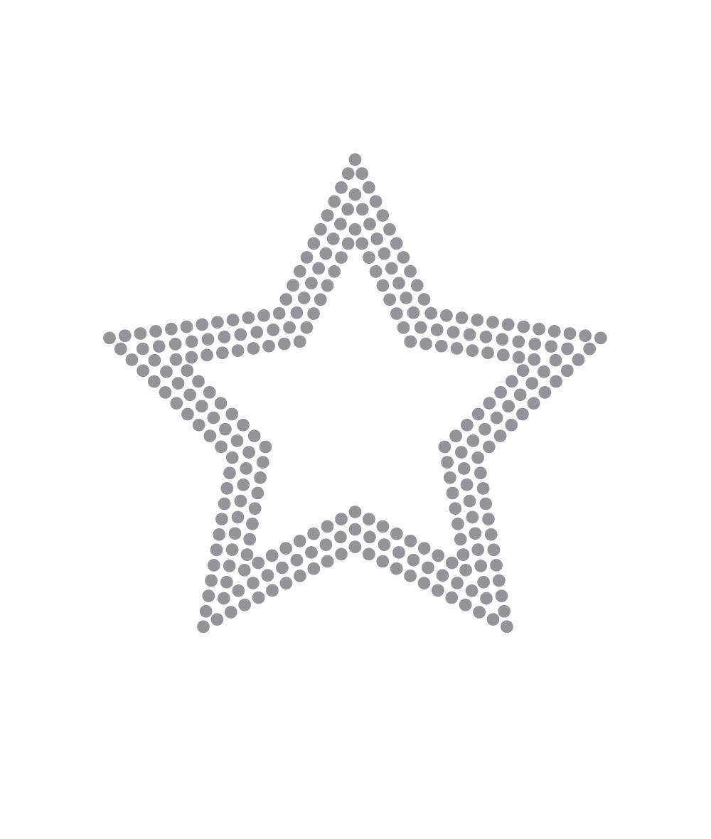 OUTLINE STAR: RHINESTONE
