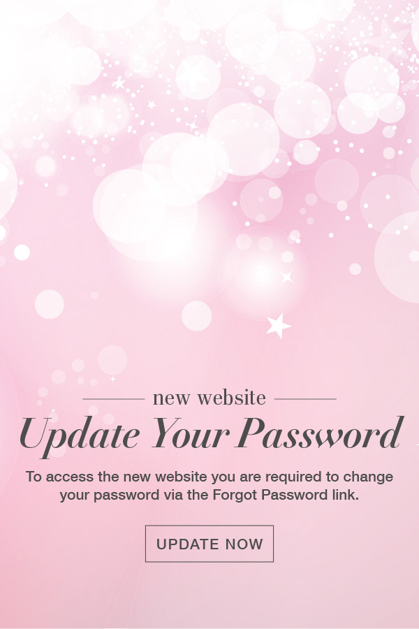 Update your password to access our new website!