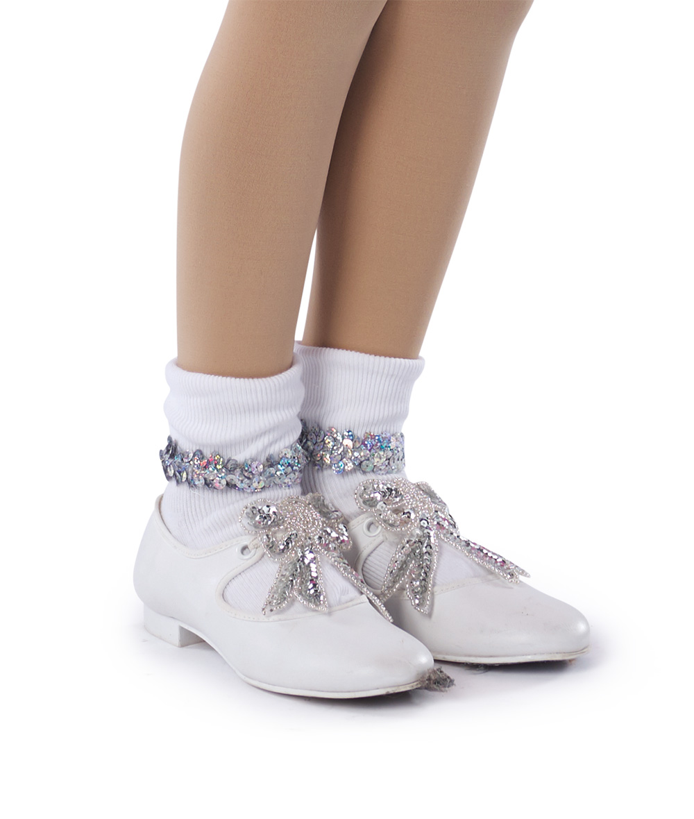 SEQUIN TRIM SOCKS