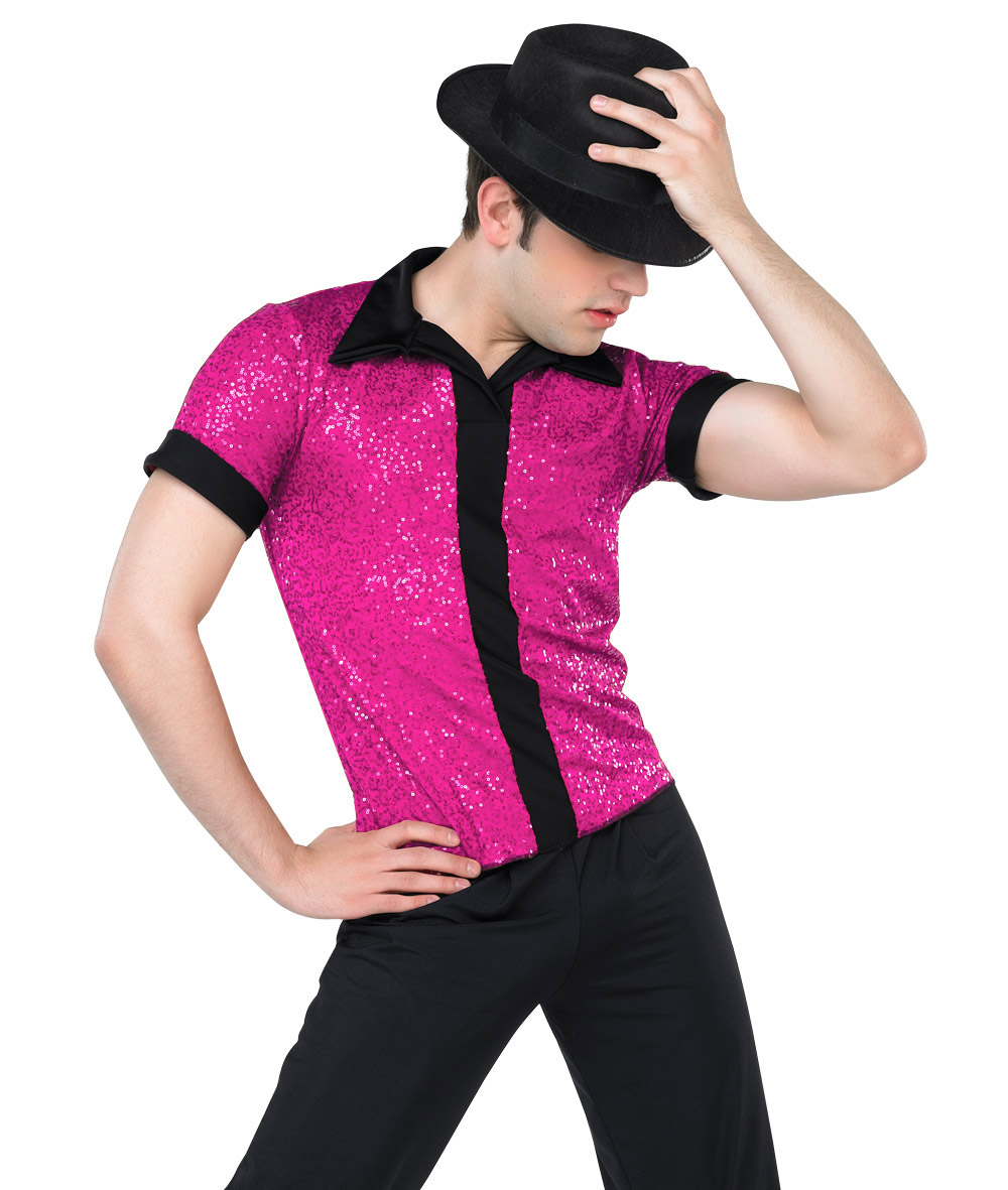 SEQUIN PLACKET GUY SHIRT