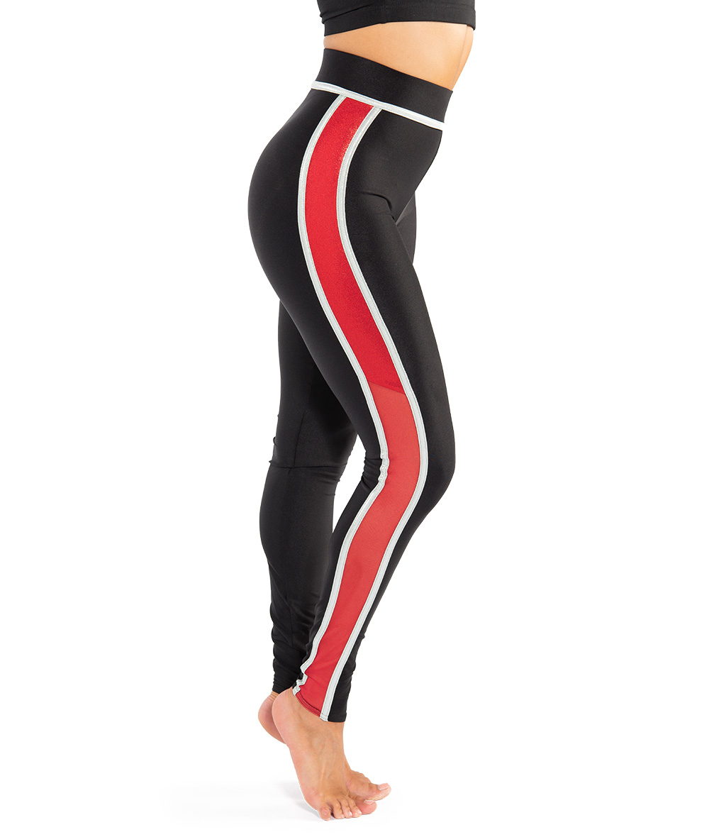 MESH SIDE STRIPE LEGGINGS