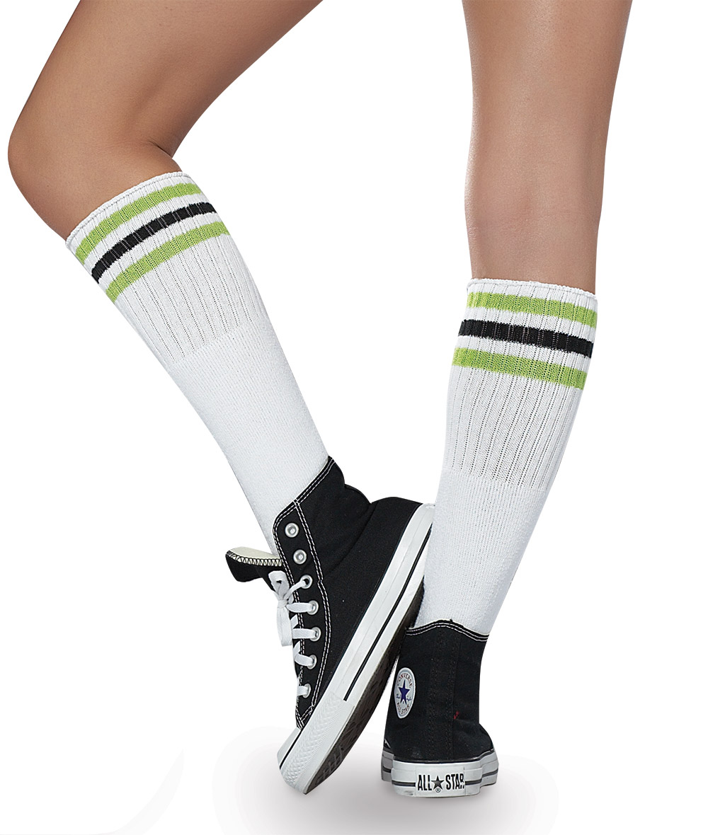STRIPED ATHLETIC SOCKS