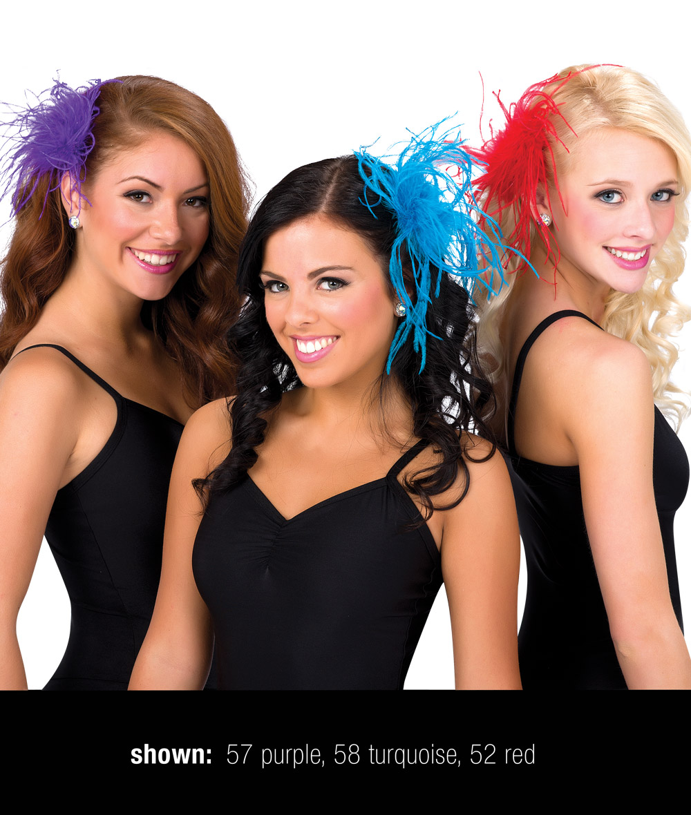 OSTRICH FEATHER HAIR CLIP