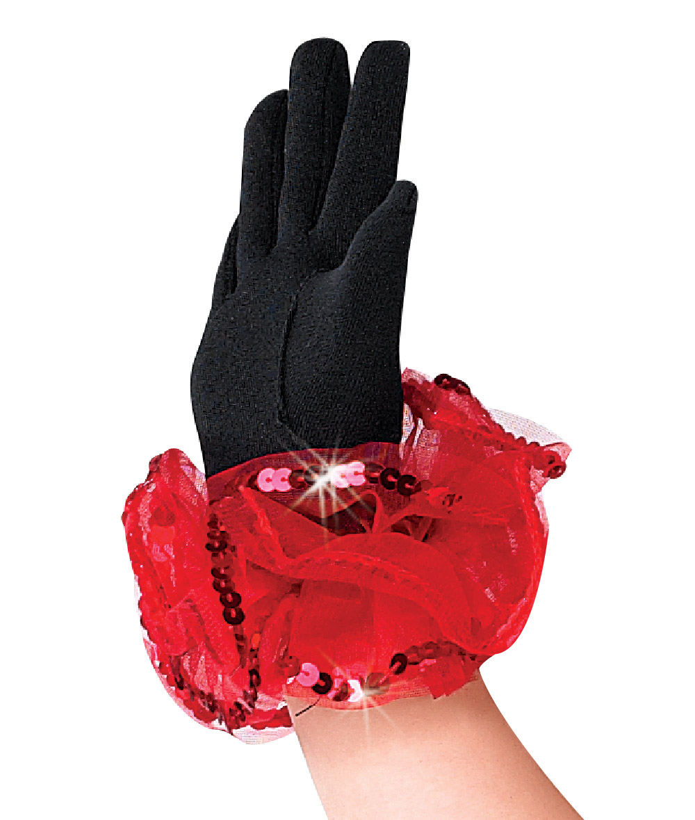 RUFFLE & SEQUIN GLOVES
